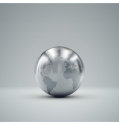 3d metallic globe vector