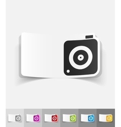 Realistic design element photo camera vector