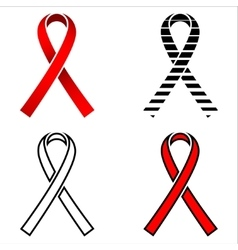 Ribbon aids ribbon red ribbon aids aquired vector