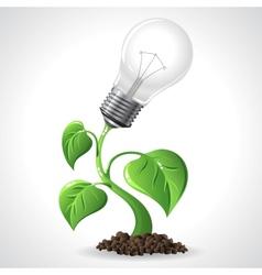Green energy concept - power saving light bulbs vector