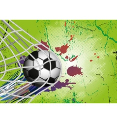Soccer ball on grunge background vector