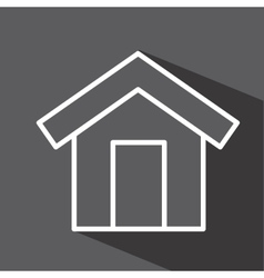 House isolated icon design vector