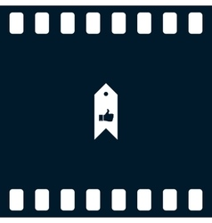 Bookmark symbol vector
