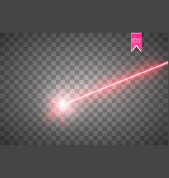abstract red laser beam isolated on transparent vector image
