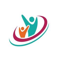 Adoption care logo vector