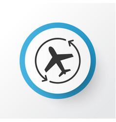 Airplane direction icon symbol premium quality vector