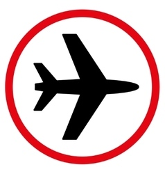 Airport Flat Icon vector image vector image