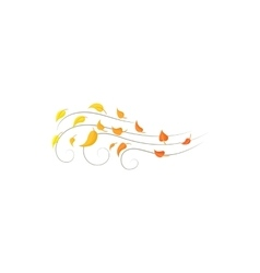 Autumn wind icon cartoon style vector image vector image