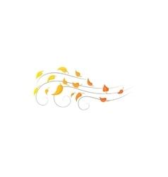 Autumn wind icon cartoon style vector image