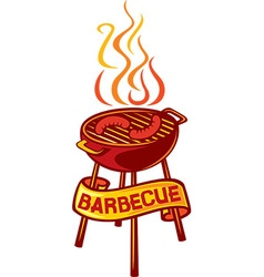 Barbeque design element vector image vector image