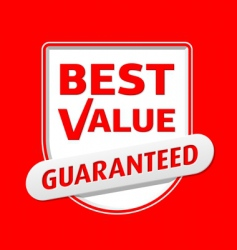 best value emblem vector image