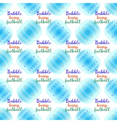 Bubble bump football equipment seamless pattern vector image