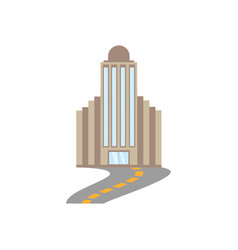 building corporate town road vector image