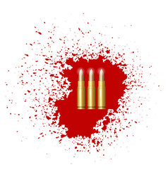 bullet set isolated vector image vector image