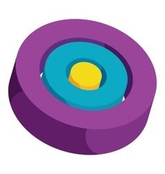 Colorful circles icon cartoon style vector