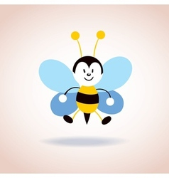 Cute bee mascot cartoon character vector