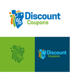Discount coupons icon and logo vector