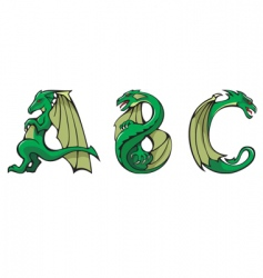 dragons alphabet abc vector image vector image
