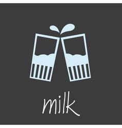 drink milk design banner and background eps10 vector image vector image