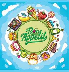 food planet series vector image vector image