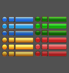game buttons gui pack vector image vector image
