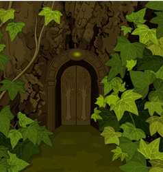 Gates of magic elves castle vector