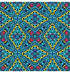 geometric seamless tiled pattern blue vector image