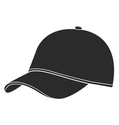 golf hat silhouette vector image