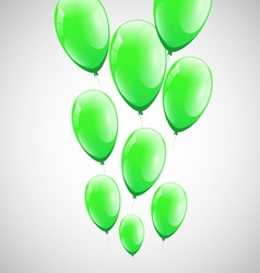 Green balloons with white background vector