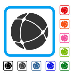 internet sphere framed icon vector image vector image