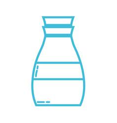 line liquit detergent in bottle design to clean vector image