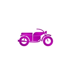 motorcycle icon Flat design style vector image vector image