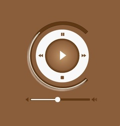 Music player control interface 6 vector