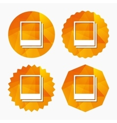 Photo frames template icon Empty photography vector image vector image