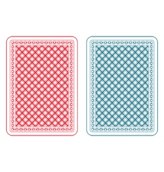 Playing cards back epsilon vector image