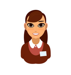 reception or secretary girl vector image