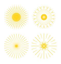 Retro sun burst minimal vintage firework burst vector