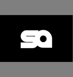 Sa s a black white bold joint letter logo vector