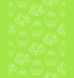 Seamless simple pattern with easter eggs green vector