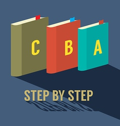Step by Step Learning Concept vector image