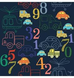 transportation pattern vector image vector image
