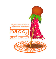 Ugadi and gudi padwa celebration of india vector