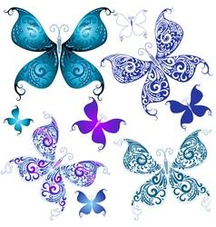 vintage butterflies vector image vector image