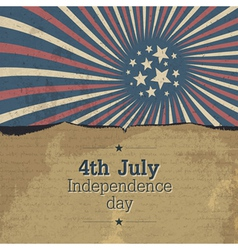 vntage 4th jule poster design with rays vector image vector image
