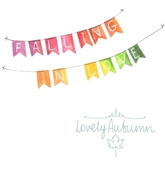 Watercolor flags garland vector image