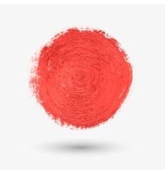 Red circle the texture of the watercolor chalk vector