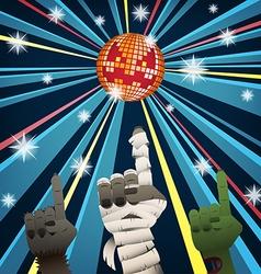 Halloween group disco party vector