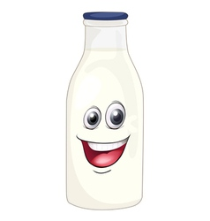 Cartoon Milk Bottle vector image