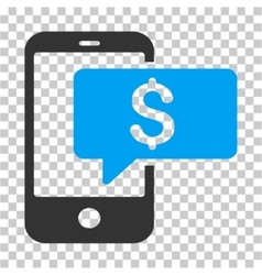 Money phone sms icon vector