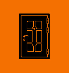 Apartments door icon vector